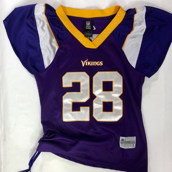 Hot Reebok Tops   Rebok Nfl Minnesota Vikings Ladies Jersey Size M